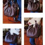 Dark brown leather satchel, Large p..