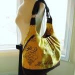 Extra large yellow canvas bag, conv..