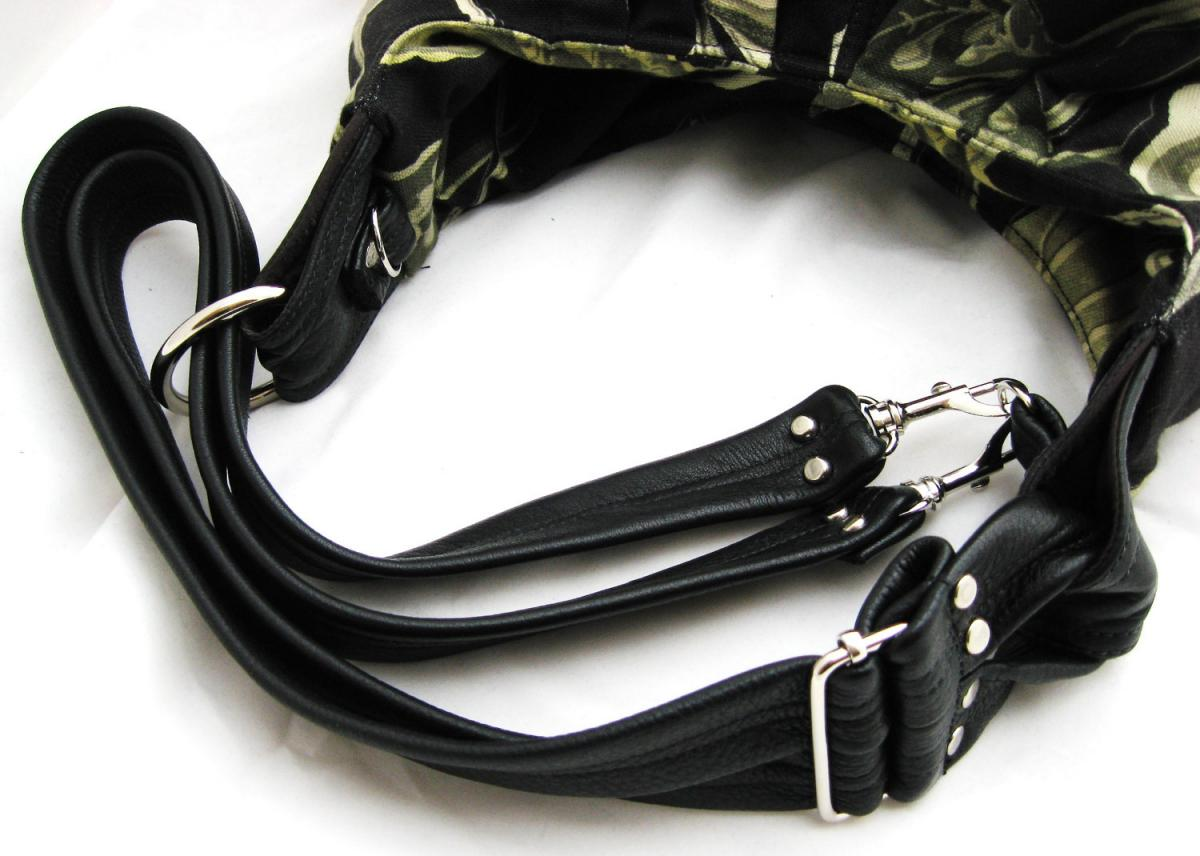 Leather straps for XL convertible tote